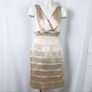 Calvin Klein sleeveless surplice dress 10